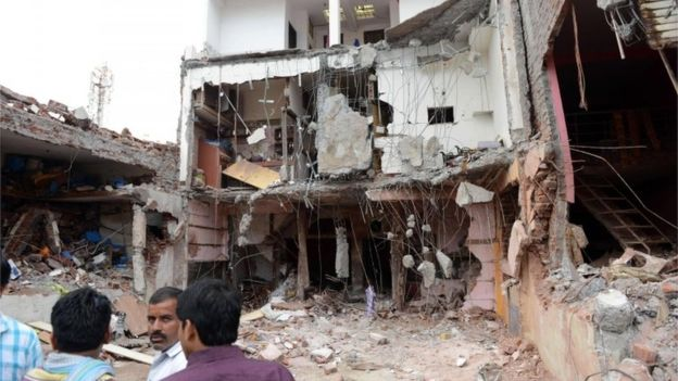 India restaurant blast: Police search for shopkeeper